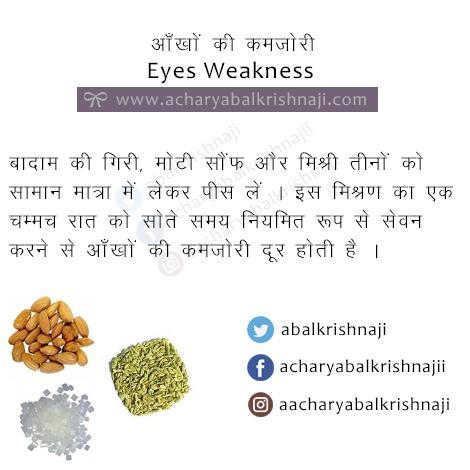 eyes weakness